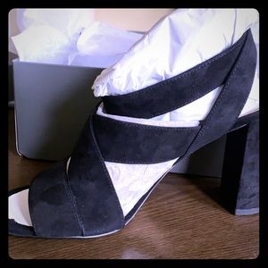 Ann Taylor Margot Suede Heeled Sandal Size 8.5